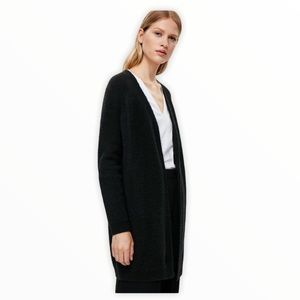 COS Mohair/Wool Black Cardigan Size XS